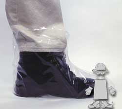 CLEAR PE SHOE COVER - 5 MIL - XL - W/ELASTIC OPENING - 50  EA/BX - 10 BX/CS