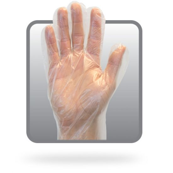 HIGH DENSITY P.E. DISPOSABLE GLOVE - 100 EA/DISP - 100 DISP.BX/CS - 10 -000/CS