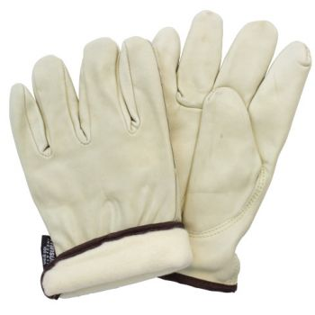 COW GRAIN LEATHER THINSULATE LINED - DRIVERS STYLE - KEYSTONE THUMB - TAN (SM -XL)