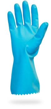 PREMIUM FLOCK LINED LATEX - BLUE - 18 MIL - INDIVIDUALLY BAGGED