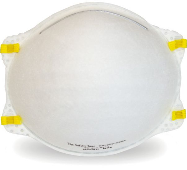 SAFETY ZONE BRAND NIOSH RATED MASKS 20/BX 12 BX/CS