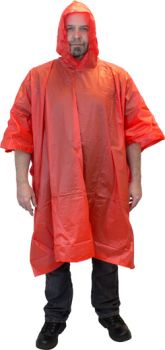 PVC PONCHO - ONE SIZE - RED