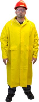 "48"" FULL LENGTH RAINCOAT 35 MIL - PVC/POLYESTER"
